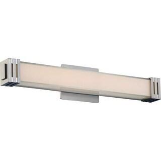 "Platinum PCVT8524 Valiant 1 Light 24"" Wide Bath Bar with Glass Rectangle Shade - Brushed Nickel"