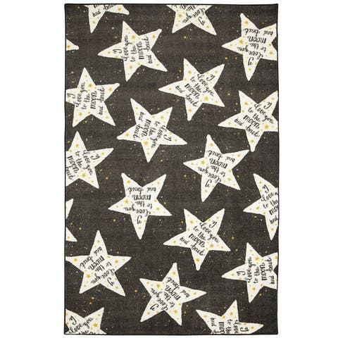 Mohawk Home To The Moon Kids Area Rug