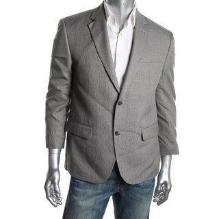 Andrew Fezza Mens Patterned Sportcoat Two-Button Suit Jacket - 44R