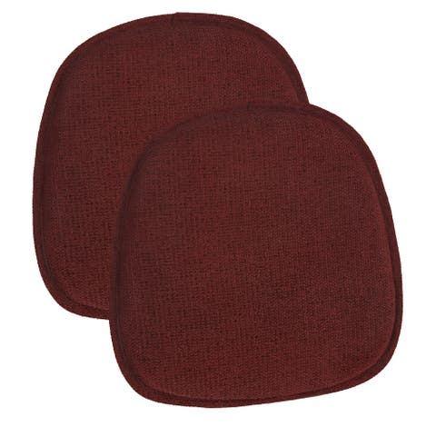"""Gripper Tonic 14.5"""" x 14"""" Delightfill Bistro Chair Cushion (set of 2)"""