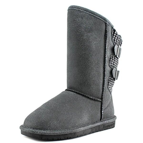 Bearpaw Boshie Women Round Toe Suede Black Winter Boot