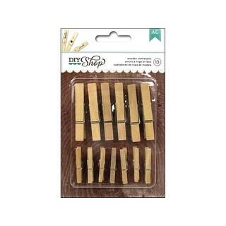 AMC DIY Shop Clothespins Wooden Astd