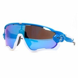 OAKLEY Shield Jaw Breaker Men's 10 Sky Blue Sapphire Iridium Sunglasses - 99mm-0mm-121mm