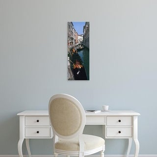 Easy Art Prints Panoramic Images's 'Gondolas in a canal, Venice, Veneto, Italy' Premium Canvas Art