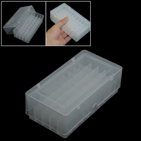 Unique Bargains Portable Clear White Cover 50 Compartments Plastic Ice Cube Mold Case