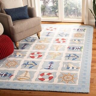 Link to Safavieh Hand-hooked Chelsea Kiersten Country Oriental Wool Rug Similar Items in Rugs