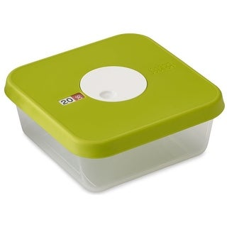 Joseph Joseph Dial Storage Square Container with Datable Lid, 40.6 Ounces, Green