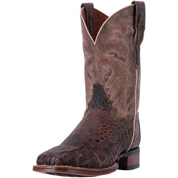 "Dan Post Western Boots Mens 11"" Denver Orthotic Cowboy Brown"