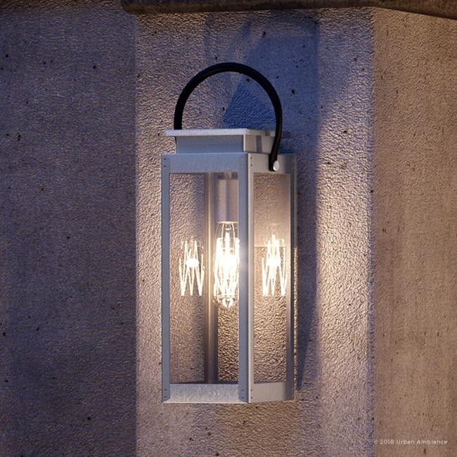 Luxury Modern Farmhouse Outdoor Wall Light 23 625 H X 9 75 W With Nautical Style Stainless Steel Finish By Urban Ambiance On Sale Overstock 22809327