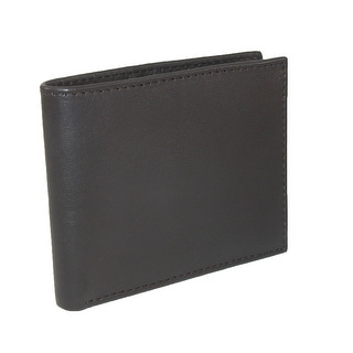 CTM® Men's Leather RFID Protected Bilfold Wallet with Passcase - One size