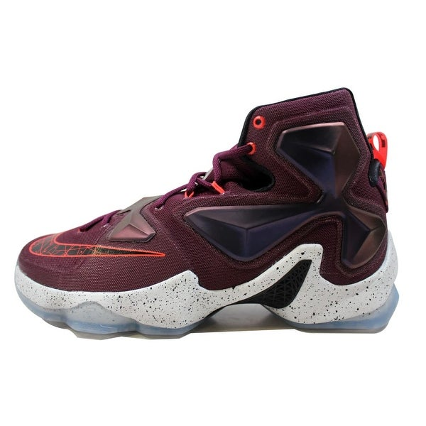 6eb2580f34a Shop Nike Men s Lebron XIII 13 Mulberry Black-Pure Platinum-Vivid ...