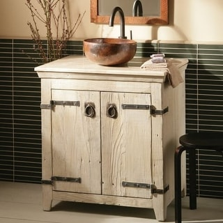 """Native Trails BNDA01 Americana 31"""" Free Standing Vanity Set with Wood Cabinet, Marble Top, Sink, and Mirror"""