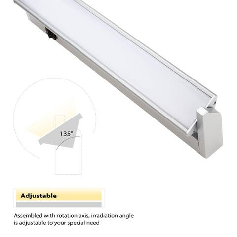 "14"" LED Under Cabinet Light, 110V Hardwired Multi-Function Lamp Warm White"