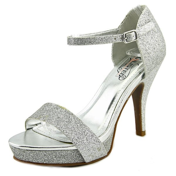 Unlisted Kenneth Cole Real Action Women  Open-Toe Leather Silver Heels