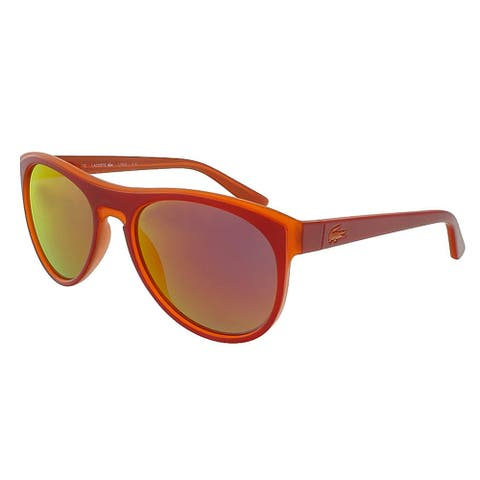 Lacoste L782S 615 Red-Orange Rectangle Sunglasses - 54-18-135