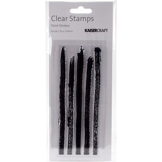 """Texture Clear Stamps 2""""X5""""-Paint Strokes"""