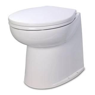 Jabsco 17 Inch Deluxe Flush Fresh Water Electric Toilet Electric Toilet