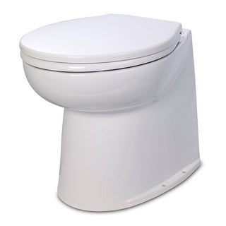 Jabsco 17 Inch Deluxe Flush Raw Water Electric Toilet Electric Toilet