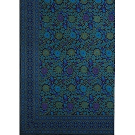 Handmade 100% Cotton Sunflower Tapestry Bedspread Tablecloth Navy Blue - Twin(70x106) Full(88x106) Queen(106x106) King(110x110)
