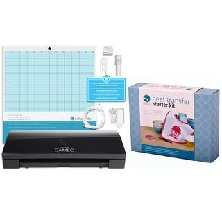 Silhouette Cameo 3 Bluetooth Black Die Cutting Machine Heat Transfer Starter Kit Bundle