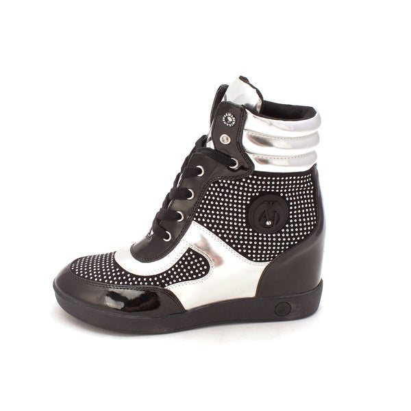 Armani Jeans Womens SCARPA Hight Top Lace Up Fashion Sneakers - 8.5