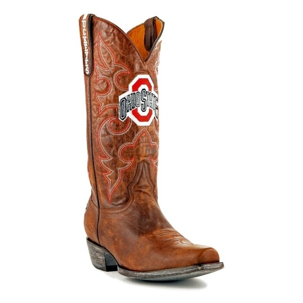 Gameday Boots Mens College Team Ohio State Buckeyes Brass