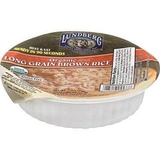 Lundberg Family Farms - Heat & Eat Long Brown Rice Bowl ( 12 - 7.4 oz bags)