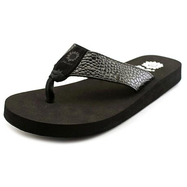 Yellow Box Yumo Women Open Toe Synthetic Black Thong Sandal
