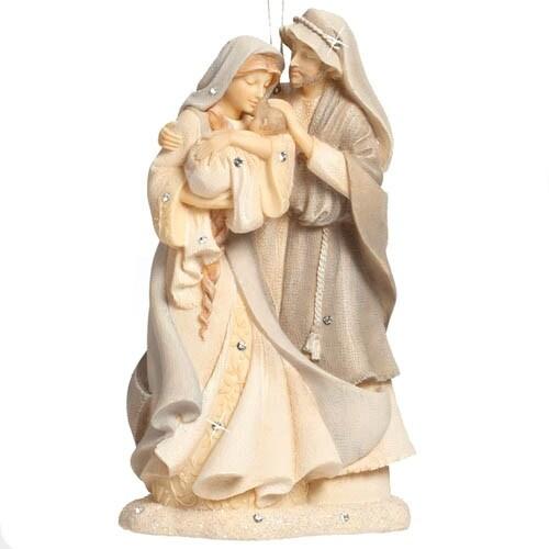 Enesco Foundations Gift Ornament Family Ornament, 4.41-Inch