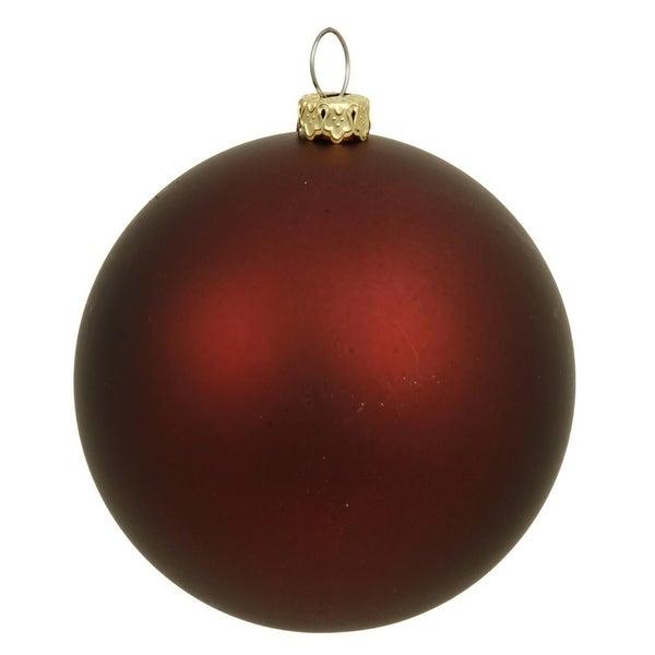 "Matte Burgundy UV Resistant Commercial Drilled Shatterproof Christmas Ball Ornament 8"" (200mm)"