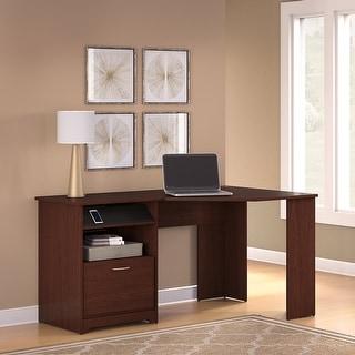 Link to Copper Grove Burgas Corner Desk in Harvest Cherry Similar Items in Desks & Computer Tables