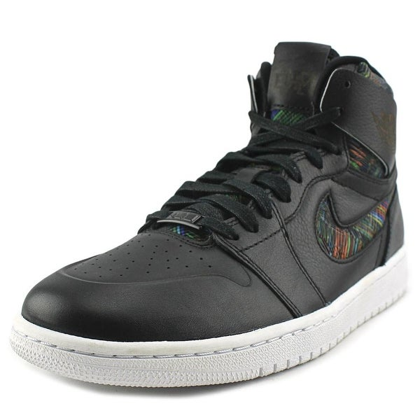 Jordan Air Jordan 1 Retro High NOUV BHM Men Round Toe Leather Black Sneakers