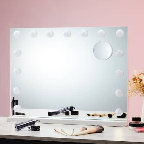 CO-Z Vanity Hollywood Makeup Mirror with 15 Dimmable LED Lights