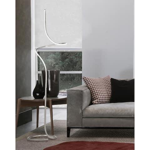 Shimmy Satin Nickel Loop Accent Floor Lamp