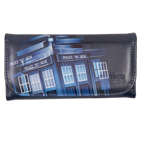 Doctor Who Embossed Women's Wallet: Retro TARDIS - Blue