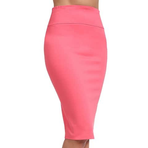 NE PEOPLE Womens Solid Knee Length Work Office Pencil Skirts-NEWSK36