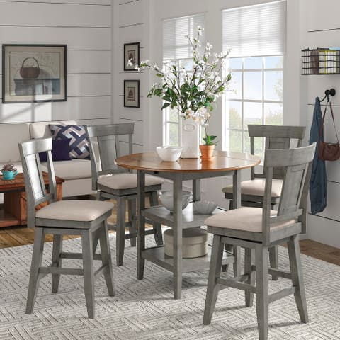 Eleanor Drop Leaf Round Counter Height Dining Set by iNSPIRE Q Classic