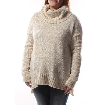 Womens Ivory Long Sleeve Cowl Neck Casual Sweater Size XL