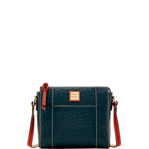 68bb4a58e81 Dooney   Bourke Ostrich Embossed Leather Lexington Crossbody Shoulder Bag  (Introduced by Dooney   Bourke