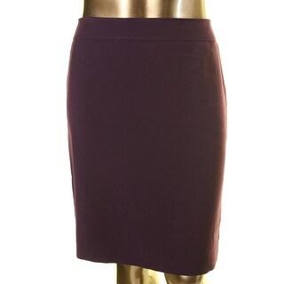 Tahari ASL Womens Al Crepe Knee-Length Pencil Skirt - 6