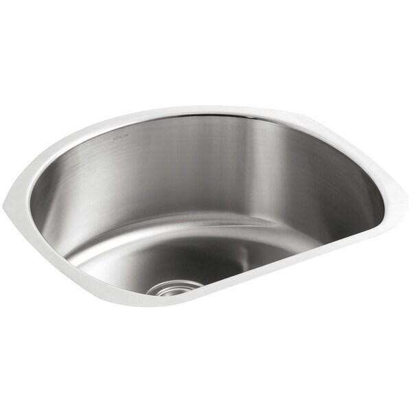 """Kohler K-3186 Undertone 24"""" Single Basin Under-Mount 18-Gauge Stainless Steel Kitchen Sink with SilentShield - Stainless Steel"""