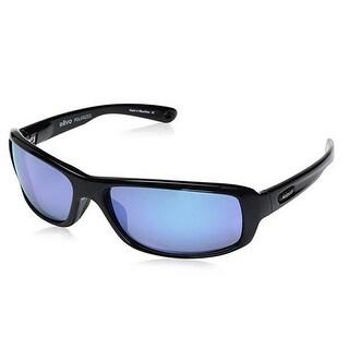 Revo Camber Polarized Sunglasses (Black Frame/Blue Lens)