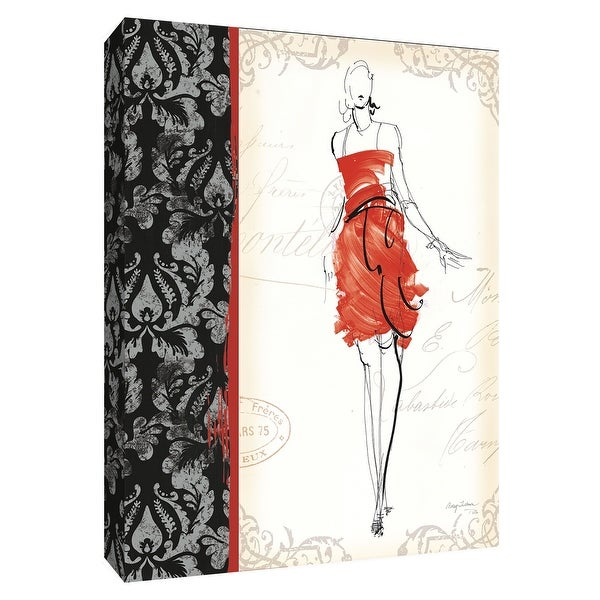 "PTM Images 9-154732 PTM Canvas Collection 10"" x 8"" - ""French Couture III"" Giclee Women Art Print on Canvas"