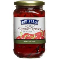 Delallo Grilled Piquillo Peppers - Case of 12 - 12 oz.