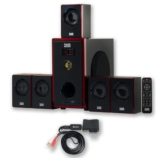 Acoustic Audio AA5103 Home Theater 5.1 Speaker System with Bluetooth Surround Sound