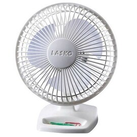 """Lasko 2002W White Personal Fan, 6"""", 2 Speed"""