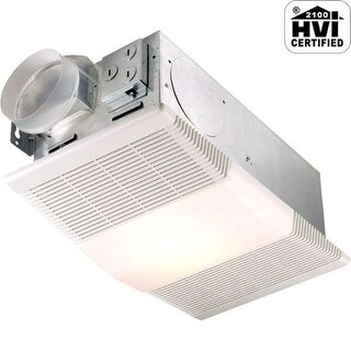 NuTone 665RP 70 CFM 4 Sone Ceiling Mounted HVI Certified Bath Fan with Heater an