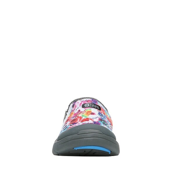 BZees Womens lifetime Fabric Low Top Slip On Running Sneaker