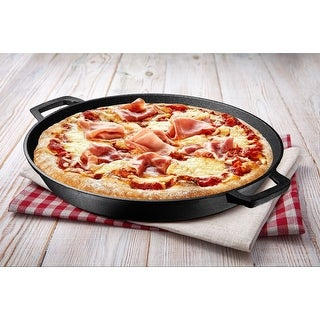 Link to 16 Inch Double Handled Cast Iron Skillet Pizza Pan Similar Items in Cookware
