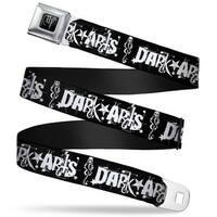 Harry Potter Logo Full Color Black White Dark Arts Death Mark Splatter Seatbelt Belt